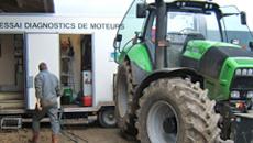 Tracteur au banc d'essai AILE